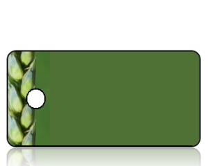 Create Design Wheat Stalk Border Key Tag