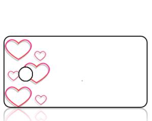 Create Design Red Heart Border Key Tag