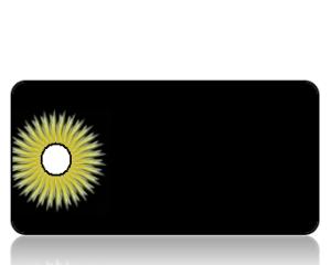 Create Design Golden Dandelion Black Background Key Tag