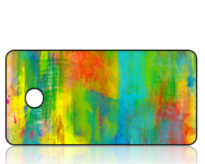 Create Design Abstract Multicolors Key Tag