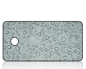 Create Design Blue Rain Drops Key Tag