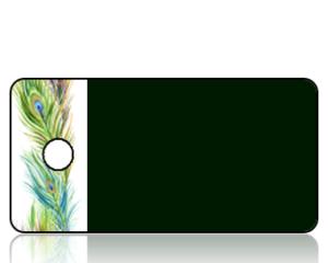 Create Design Peacock Feather Border Key Tag