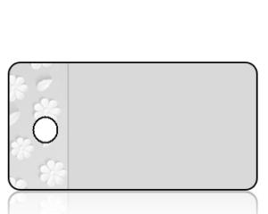 Create Design Gray with White Daisy Border Key Tag