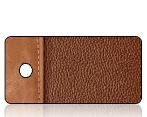 Create Design Brown Leather Binder Key Tag