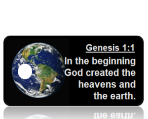 Genesis 1 vs 1 Black Background with Earth Scripture Tag ASV