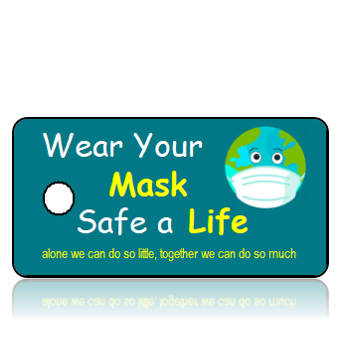 Aware19 - Wear Your Mask Save a Life - Earth Face Wearing Mask