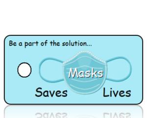 The Mask Saves Lives - Blue Mask Awareness Key Tag