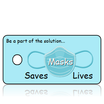 The Mask Saves Lives - Blue Mask Awareness Key Tag
