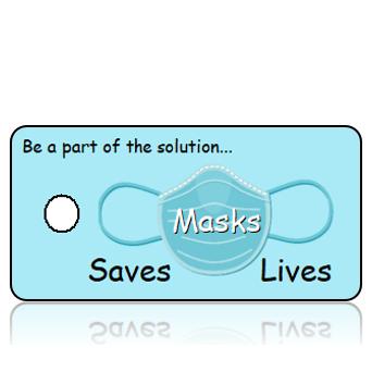 Aware20 - Mask Saves Lives - Blue Mask
