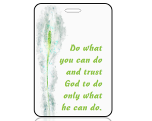 Do What You Can Do - Watercolor Peace Lily Bag Tag
