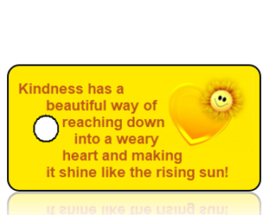 Kindness has a beautiful way - Yellow Heart Sunflower Key Tag