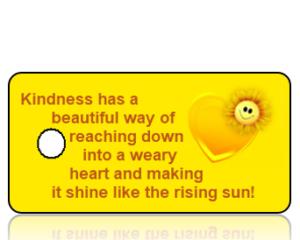 Kindness has a beautiful way - Yellow Heart Sunflower Key Tag