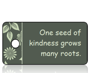 One seed of kindness - Fall Leaves Border Key Tag