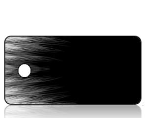 Create Design White Feather Border Key Tag