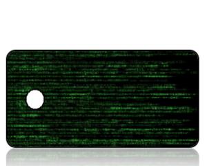 Create Design Green Matrix Computer Code Key Tag