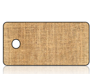 Create Design Tan Burlap Key Tag