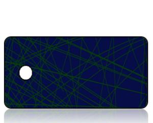 Create Design Blue Background Green Webbing Key Tag