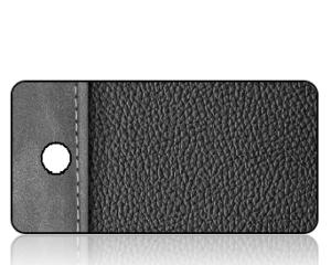 Create Design Black Gray Leather Binder Key Tag