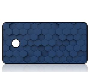 Create Design Navy Blue GeoGrid Key Tag