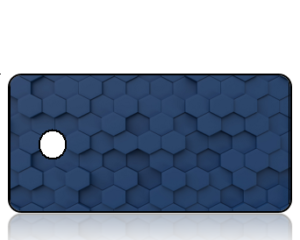 Create Design Navy Blue GeoGrid Key Tag