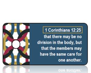 1 Corinthians 12 vs 25 ESV Linked Chain Border Scripture Tag