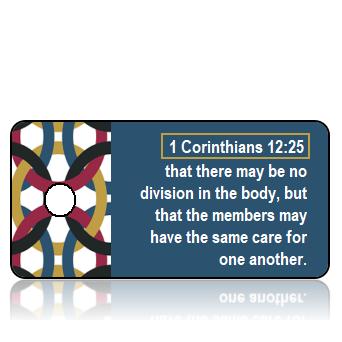 ScriptureTagD171 - ESV - 1 Corinthians 12 vs 25 - Linked Chain Border