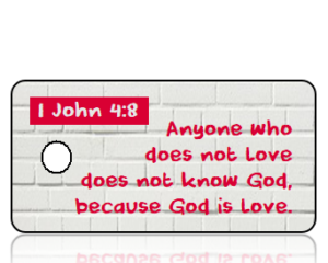 1 John 4 vs 8 ESV White Brick Scripture Tag