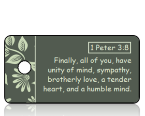 1 Peter 3 vs 8 ESV Fall Leaves Border Scripture Tag