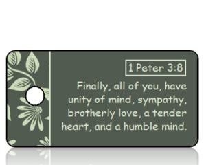 1 Peter 3 vs 8 ESV Fall Leaves Border Scripture Tag