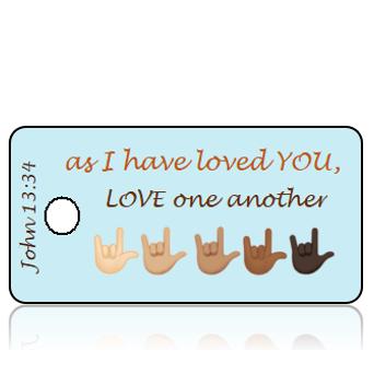 ScriptureTagD188 - John 13 vs 34 - I Love You Sign Language Hands