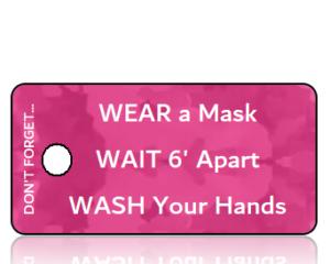 3 Ws - Wear Wait Wash Pink Camo Awareness Key Tag
