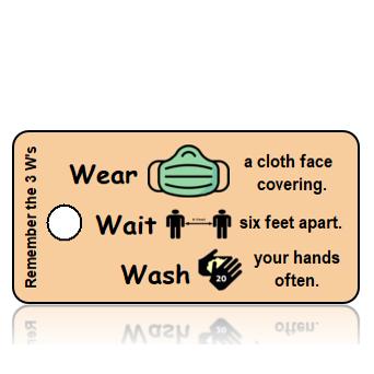 Aware23 - 3 W's - Wear Wait Wash - Green Mask Vertical