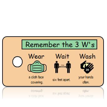 Aware24 - 3 Ws - Wear Wait Wash - Green Mask Horizontal